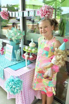 This little girl had an American Girl birthday party at Sweet Frog!   Jealous!!