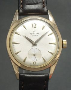 Zenith Sporto Chronometer 40-T Movement Pink gold plated Vintage