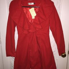 Red Wool Coat for Dress ---New--- size Large Fits like a small to medium Off Brand  Jackets & Coats Pea Coats
