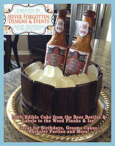 EDIBLE LABELS Custom Beer Bottle Cake Labels for Chocolate or Sugar Glass Beer Bottles on Etsy, $15.00
