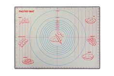 Silicone pastry rolling mat sheet extra large non slip non-stick for fondant icing with measurements 61cm * 45.5cm