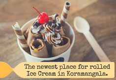 #ICEBREAKERS: The newest place for rolled Ice Cream in Koro Timings: 11 am to 11 pm Address:  15, 60 Feet Road, 19th Main, Koramangala 6th Block, Bangalore. Contact:  8123444800 #Desserts #Lounge #IceCream #CityShorBengaluru