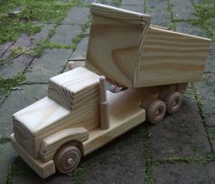 Dump Truck Wooden Toy  featured in Mothering by MyFathersHandsLLC, $60.00