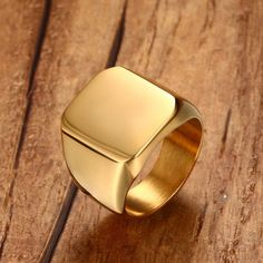 Cheap ring stainless, Buy Quality pinky ring directly from China aneis masculino Suppliers: Men Pinky Ring Stainless Steel Band Biker Signet Style Classic Anillos Gold Tone Male Jewelry Aneis Masculino Bijoux Jewellery Copper Jewelry, Fine Jewelry, Men's Jewelry Rings, Mens Ring Designs, Mens Gold Rings, Men Rings, Ring Set, Ring Ring, Style Classique