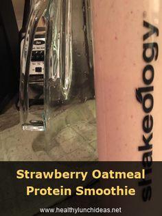 Strawberry Oatmeal Protein Smoothie  Healthy Smoothie Recipes | Smoothie Breakfa...  Strawberry Oatmeal Protein Smoothie  Healthy Smoothie Recipes | Smoothie Breakfast Recipes | Green  #Breakfa #healthy #Oatmeal #Protein #Recipes #Smoothie #Strawberry Protein Smoothie Recipes, Breakfast Smoothie Recipes, Easy Smoothies, Green Smoothies, Strawberry Oatmeal, Smoothies With Almond Milk, Whey Protein Powder, Recipe Steps, Easy Healthy Recipes