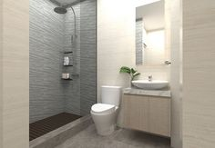 A bathroom is a room that unknowingly affects your mood. A beautiful, clean and neat bathroom will make you happier and more relaxed after you use it. With the presence of a comfortable bathroom, y… Minimalist Small Bathrooms, Minimalist Bathroom Design, Modern Bathroom Design, Simple Bathroom, Bathroom Interior Design, Bathroom Wall, Bathroom Ideas, Washroom, Bathroom Designs