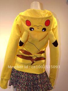 Japan Anime Cool Pokemon Pikachu Hoodie Hoody Cosplay Costume Clothes Yellow on AliExpress.com. 40% off $14.88