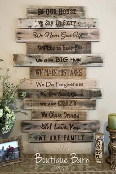 Family Rules Sign/Wood Sign/Rustic Sign/Family Art/Rustic Wall Decor/Farmhouse Decor/Country Decor/Inspirational Decor/Housewarming Gift #affiliate