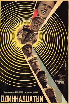 """The Eleventh"" Russian Movie Poster by Stenberg Brothers (Dziga Vertov 1928) #Movieposter"
