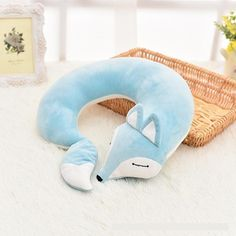Lovely Fox Animal Cotton Plush U Shape Neck Pillow Travel Car Home Pillow Nap Pillow Health C. Lovely Fox Animal Cotton Plush U Shape Neck Pillow Travel Car Home Pillow Nap Pillow Health Care with Eye Mask Lovely Fo. Best Neck Pillow, Neck Pillow Travel, Travel Pillows, Side Sleeper Pillow, Custom Cushions, Pet Fox, Pillow Reviews, Sewing Projects, Kawaii