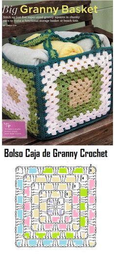 Bolso Caja de Granny - Patrones Crochet