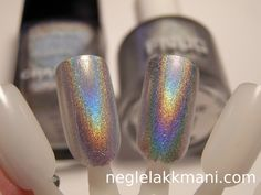 Chanel Holograpic vs.FNUG Psychedelic (Chanel on the left)
