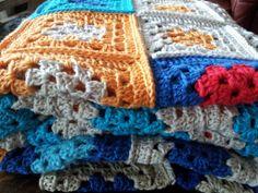vierkanten grannies haken Blanket, Crochet, Craft Work, Ganchillo, Blankets, Cover, Crocheting, Comforters, Knits