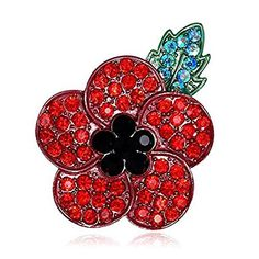 Round Poppy pin badge I honour all who serve to protect my freedom.