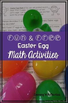 Your students will LOVE these FREE math activities using Easter Eggs. Some ideas include counting coins, solving word problems, adding, and matching improper fractions to mixed numbers and much more! Free Teaching Resources, Teaching Activities, Teaching Tips, Math Websites, Fourth Grade Math, Fun Math Games, Math Workshop, Free Math