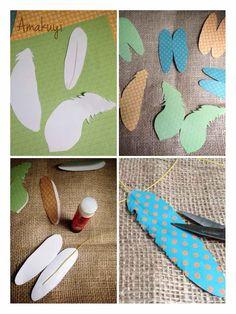 paso a paso cómo hacer un atrapasueños, las plumas : via MIBLOG
