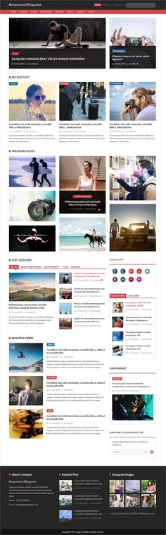 Perfect is clean and modern design #PSD template for #magazine, blog and #news website download now > https://themeforest.net/item/responsive-magazine-psd-template/19767677?ref=Datasata