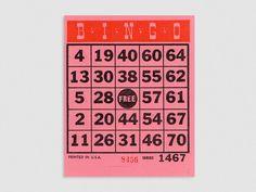 Bingo Cards (x5)