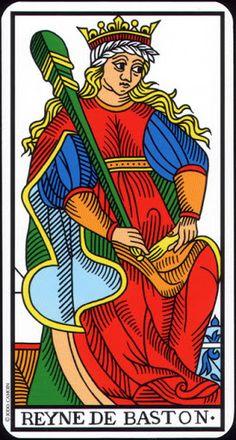 Queen of Clubs - Tarot de Marseille (Camoin-Jodorowsky) - Rozamira Tarot - Picasa Web Albums