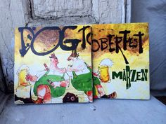 Flying Dog, Dogtoberfest beer coasters, Flying Dog beer coasters, Artisanal beer coasters on Etsy, $10.00