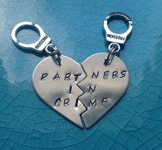 Partners In Crime Keychains @Shelly Sullivan  hahaha