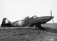 Boulton Paul P.82 Defiant Mk.I, T4037 'JT-T', of No. 256 Squadron RAF, on the ground at Squires Gate, Blackpool, October 1941