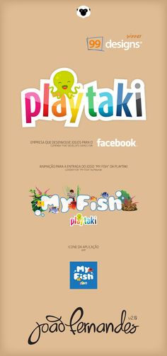 Playtaki Logo concept by João Fernandes, via Behance