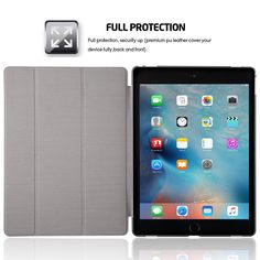 conjoinedleather case for iPad pro with frosted soft transparent TPU and stand anbond (4)