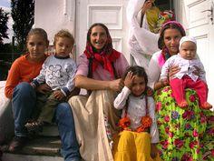 Gypsy family, Romania