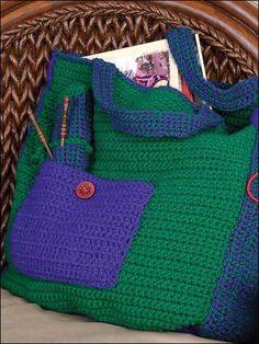 Plentiful Pockets Tote Crochet Pattern ✿⊱╮Teresa Restegui http://www.pinterest.com/teretegui/✿⊱╮