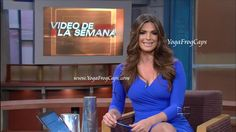 Barbara Bermudo anchoring on Primer Impacto -- 7/11/2012 ~ YogaFrogCaps