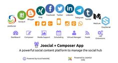Composer App integration for Joocial: manage your social content from Joomla!