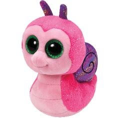 """Ty Beanie Boos are the cutest collectable plush friends in the world. There is a Beanie Boo friend for everyone. Inside tag: """"In the garden, I'm a busy snail Nibbling all day on tasty kale!"""" Approxima"""