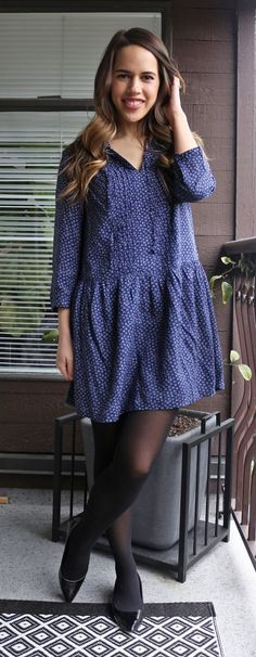 Jules in Flats - Old Navy Printed Swing Dress