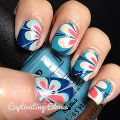 cool marble nails
