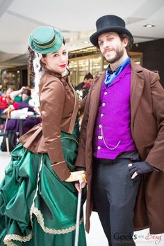 Steampunk Rogue and Gambit London Super Comic Con 2016 - Photo by Geeks are Sexy