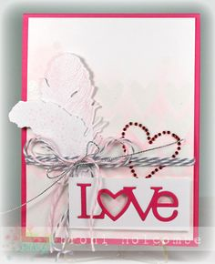 Love  & Feathers - Color Throwdown #279 (by Broni Holcombe) #PTI, #PapertreyInk