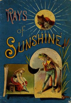 Dazzling Vintage Book Cover:  Rays Of Sunshine