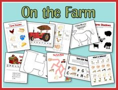farm theme unit with printables - Re-pinned by #PediaStaff.  Visit http://ht.ly/63sNt for all our pediatric therapy pins