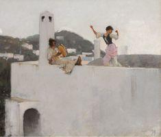 John Singer Sargent Capri Girl on a Rooftop, 1878 Oil on Canvas