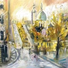 Mystical Street III - Pavel Mitkov painting