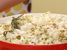 Herb, garlic and parmesan popcorn