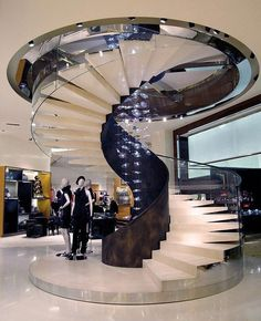 Modern stairs - Building a two-story home in among the contemporary designs, among the major questions to be addressed is Staircase Interior Design, Spiral Stairs Design, Luxury Staircase, Staircase Railings, Stairs Architecture, Railing Design, Grand Staircase, Stairways, Escalier Design