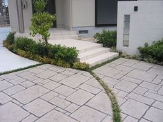 積水ハウス様の設計プランで仕様しましたスタンプコンクリートです。