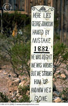 Boot Hill cemetary in Tombstone Arizona.  Interesting place.  The brochure tells who is buried there and how they died.