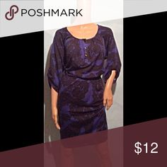 Black & Blue Dress Polyester & Spandex. Length 38 bust 40 NY Collection Dresses Midi