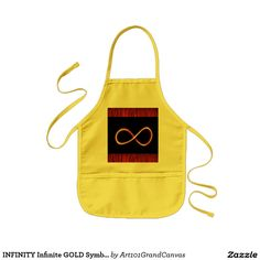 INFINITY Infinite GOLD Symbol Graphic Art - GIFTS Kids' Apron