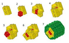 Lego Hexagon tips - 2 studs