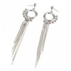 Elegant Long Tassel Stud Earrings | favwish - Jewelry on ArtFire
