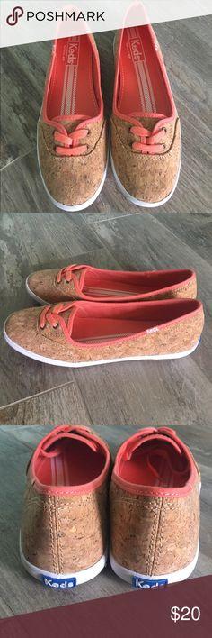 New!  Keds Never worn teacup cork coral keds Keds Shoes Sneakers